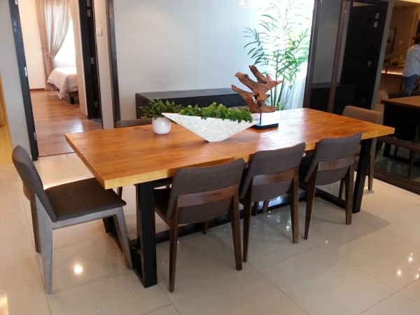 8FT SOLID PINE WOOD DINING TABLE - FRM5050B4