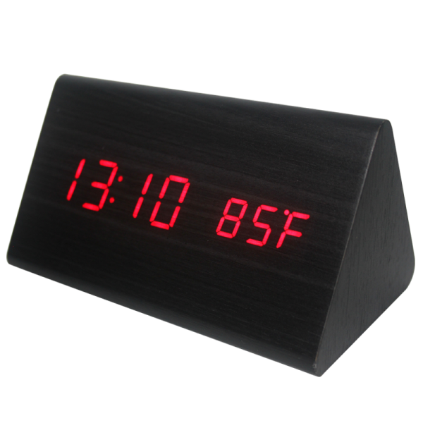 DCC1090 WOODEN CLOCK(RED)1