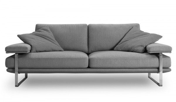 FRM6008 2SEAT DESIGNER SOFA FABRIC&STAINLESS1