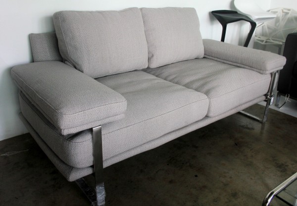 FRM6008 2SEAT DESIGNER SOFA FABRIC&STAINLESS2