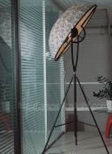 LTG0027  FLOOR LAMP FABRIC SHADE,METAL1