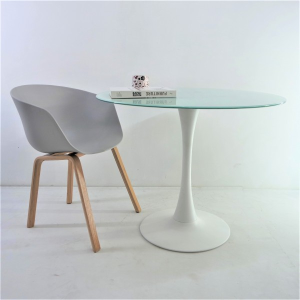 ROUND GLASS DINING TABLE - FRM51463