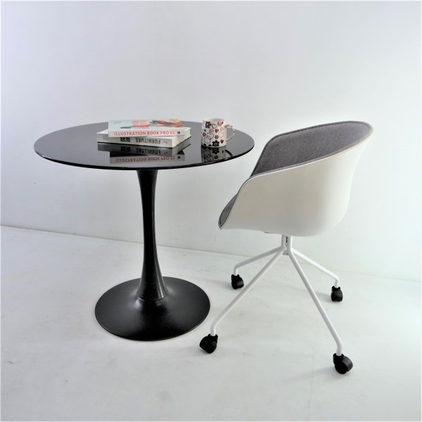 ROUND GLASS DINING TABLE - FRM51464