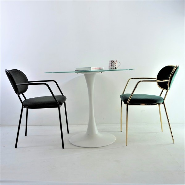 ROUND GLASS DINING TABLE - FRM51465