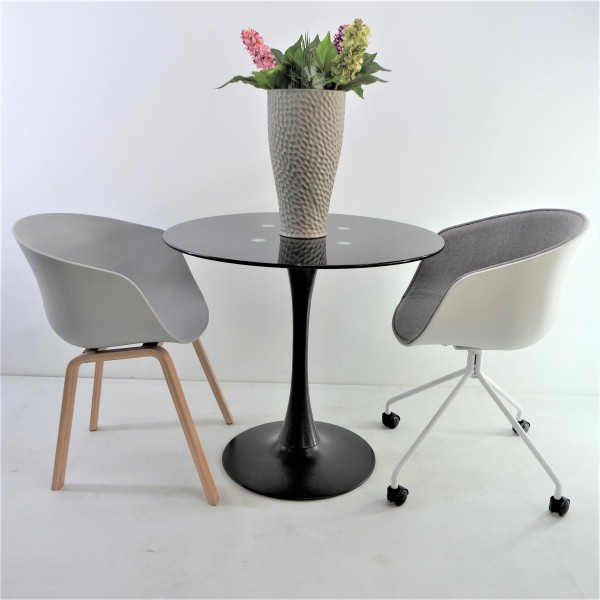 ROUND GLASS DINING TABLE - FRM51466