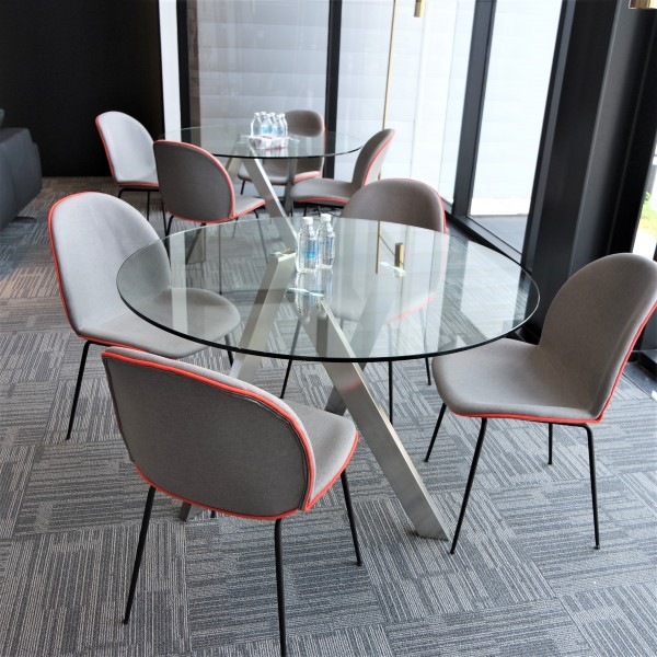 ROUND GLASS DINING TABLE - FRM51236