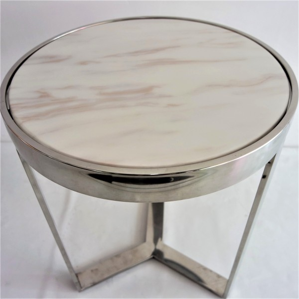 MARBLE TOP SIDE TABLE - FRM2096-S3
