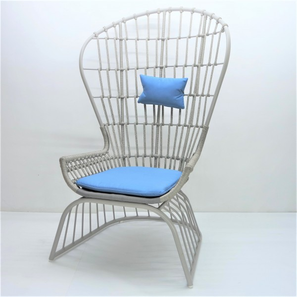 OUTDOOR HIGH BACK LOUNGE CHAIR - FRM80381