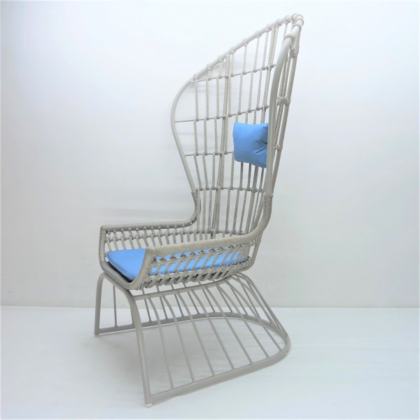 OUTDOOR HIGH BACK LOUNGE CHAIR - FRM80382