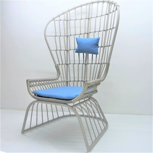OUTDOOR HIGH BACK LOUNGE CHAIR - FRM80386