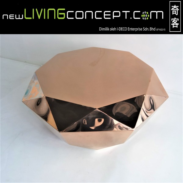 ROSE GOLD  COFFEE TABLE - FRM3080-RG1