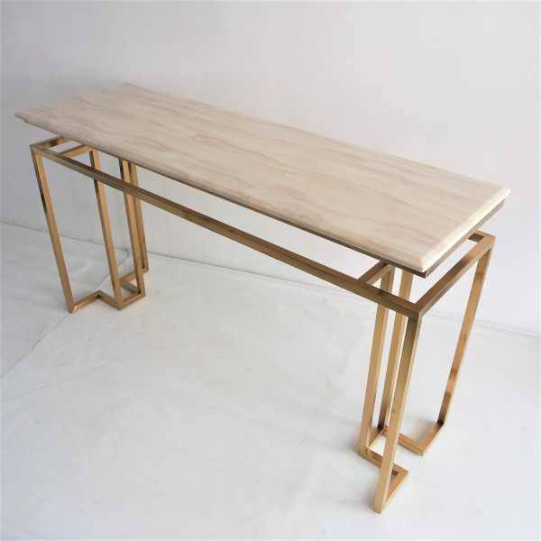 MARBLE TOP CONSOLE TABLE - FRM5144-GD2