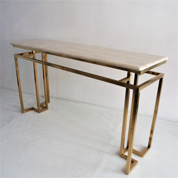 MARBLE TOP CONSOLE TABLE - FRM5144-GD6