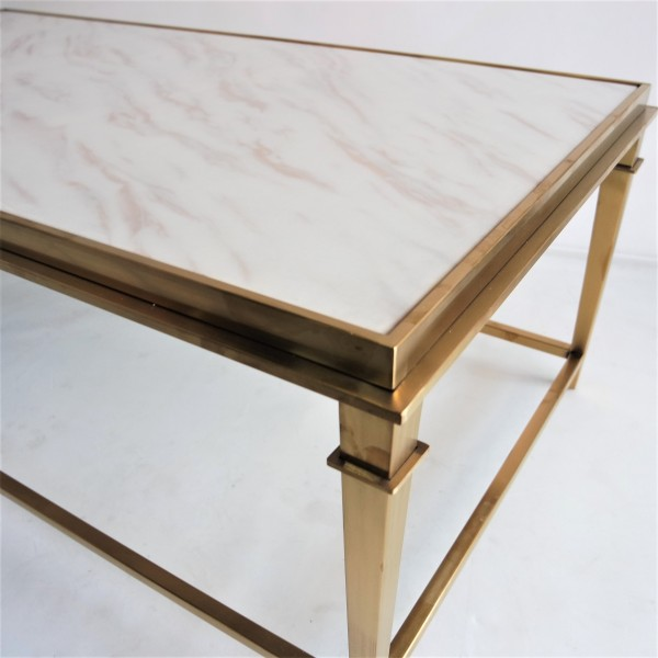 RECTANGLE MARBLE COFFEE TABLE - FRM3081-GD4