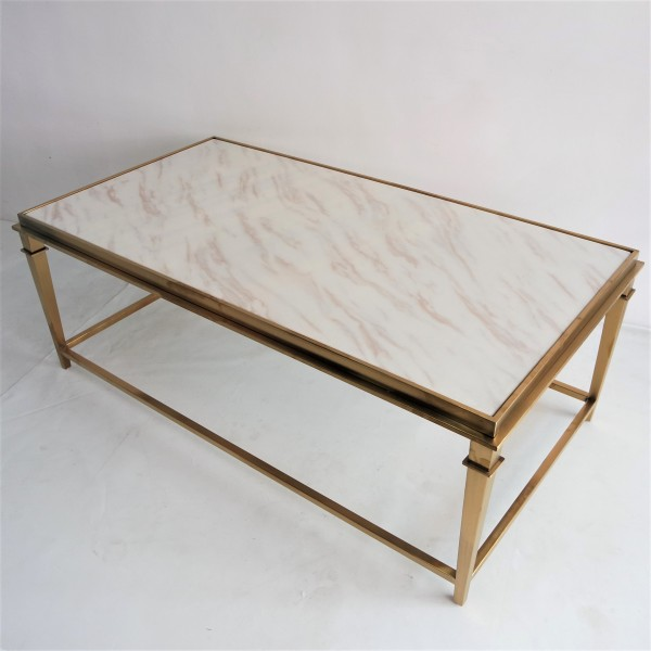 RECTANGLE MARBLE COFFEE TABLE - FRM3081-GD5