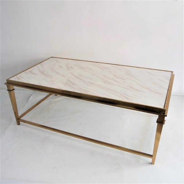 RECTANGLE MARBLE COFFEE TABLE - FRM3081-GD6