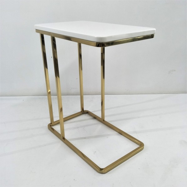 RECTANGLE MARBLE SIDE TABLE - FRM21173