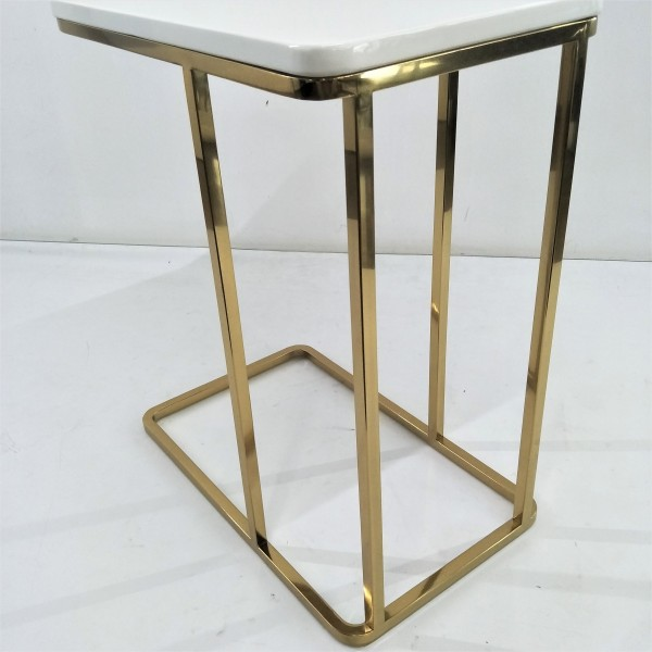 RECTANGLE MARBLE SIDE TABLE - FRM21176