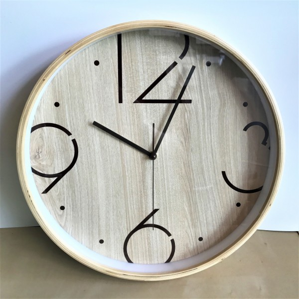ROUND WOOD WALL CLOCK - DCC10962