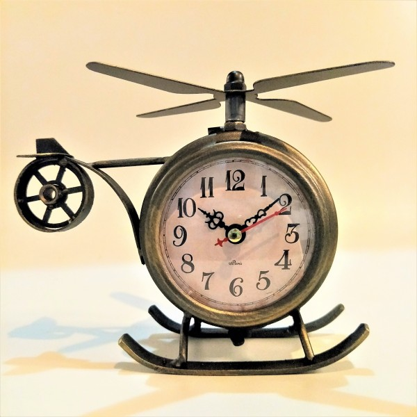 HELICOPTER TABLE CLOCK - DCC20082