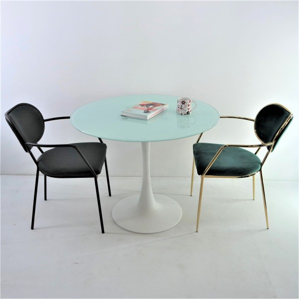 ROUND GLASS DINING TABLE - FRM51475