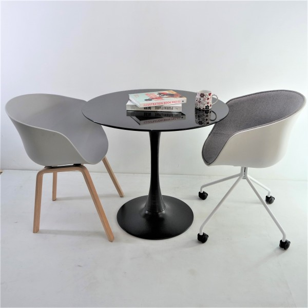 ROUND GLASS DINING TABLE - FRM51476