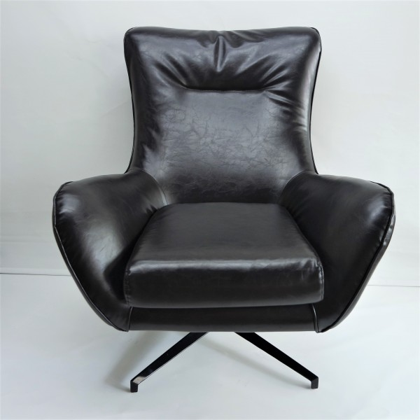 BLACK LOUNGE CHAIR - FRM7169-PB3