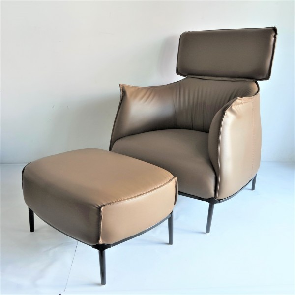 ARCHIBALD KING ARM CHAIR WITH OTTOMAN - FRM71453