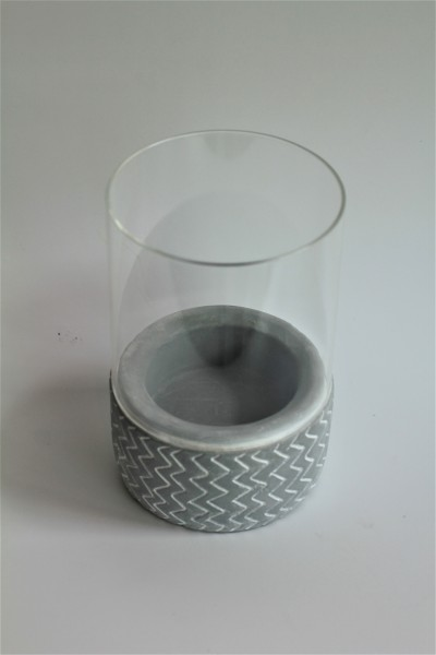 CEMENT BASE CANDLE HOLDER - DCT91123