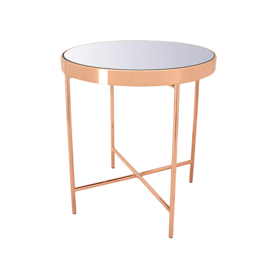 ROSE GOLD SIDE TABLE-FRM20941