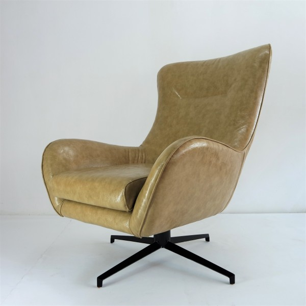 BLACK LOUNGE CHAIR - FRM7169-PB2