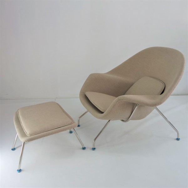 WOMB CHAIR WITH OTTOMAN - FRM71492