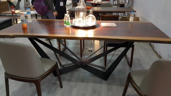 MERBAU SLAB DINING TABLE - FRM51222