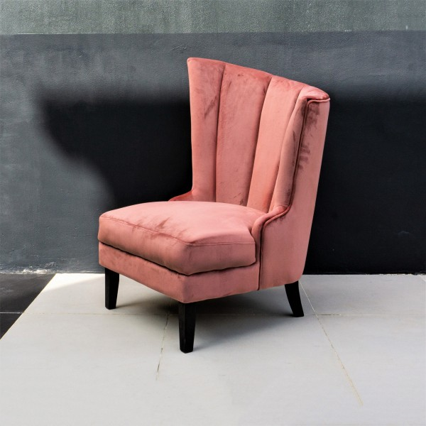 VELVET WING CHAIR / LOUNGE CHAIR - FRM72162