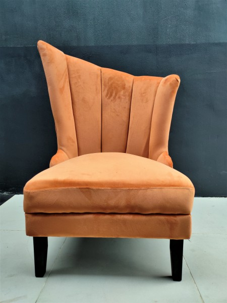 VELVET WING CHAIR / LOUNGE CHAIR - FRM72163