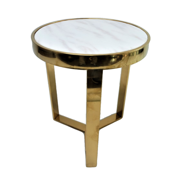 MARBLE ROUND SIDE TABLE - FRM2097-G1
