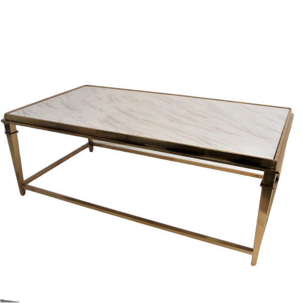RECTANGLE MARBLE COFFEE TABLE - FRM3081-GD1