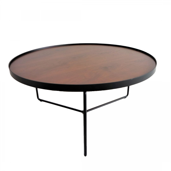 WALNUT TOP COFFEE TABLE - FRM3079-WN1