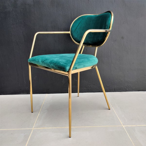GOLD DINING CHAIR - FRM02183
