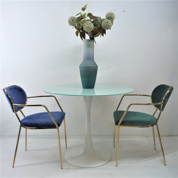 GOLD DINING CHAIR - FRM02186
