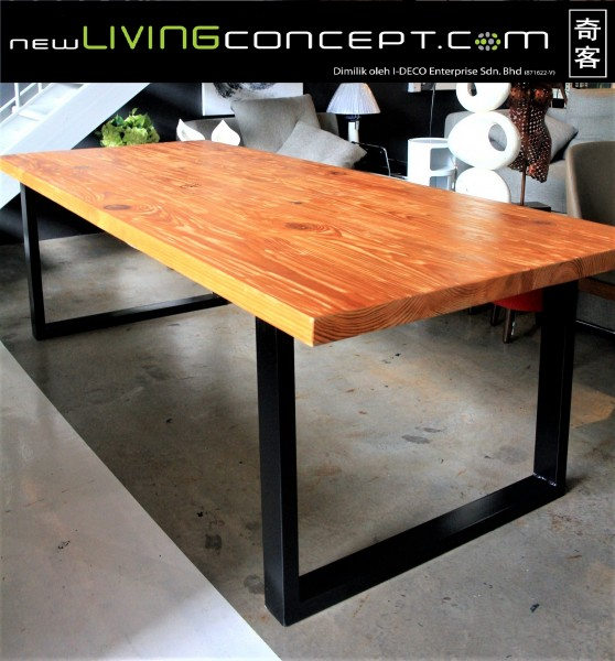8FT SOLID PINE WOOD DINING TABLE - FRM5050B1