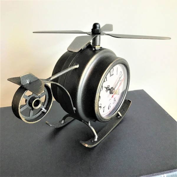 HELICOPTER TABLE CLOCK - DCC20083