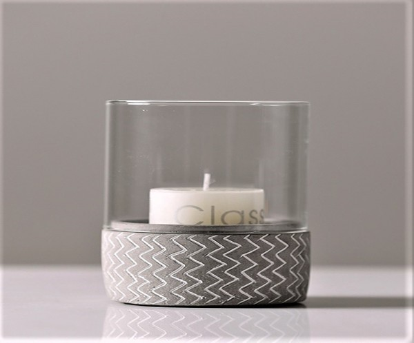 CEMENT BASE CANDLE HOLDER - DCT91121