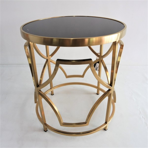 ROUND GOLD FRAME SIDE TABLE - FRM2100-GD2
