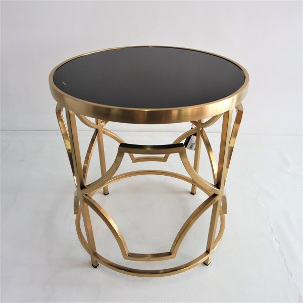 ROUND GOLD FRAME SIDE TABLE - FRM2100-GD6