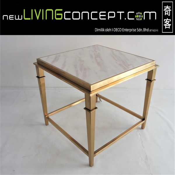 SQUARE MARBLE SIDE TABLE - FRM2099-GD1