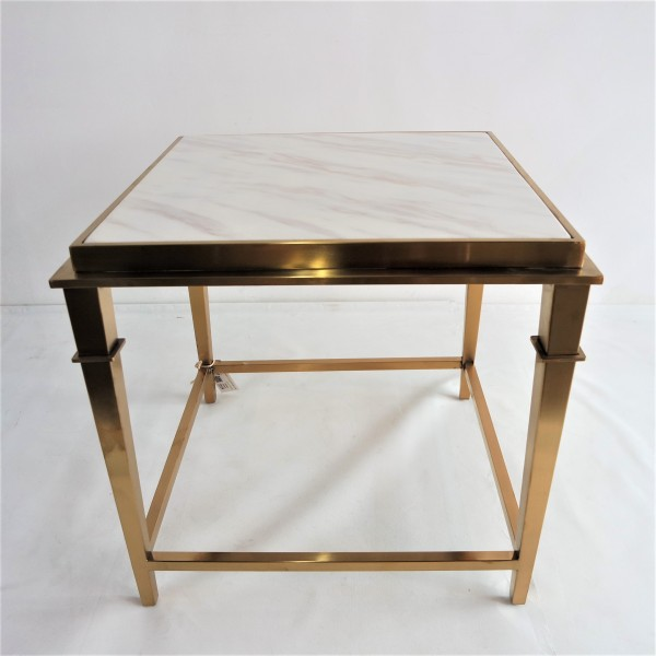 SQUARE MARBLE SIDE TABLE - FRM2099-GD2