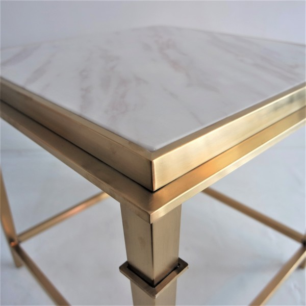 SQUARE MARBLE SIDE TABLE - FRM2099-GD4