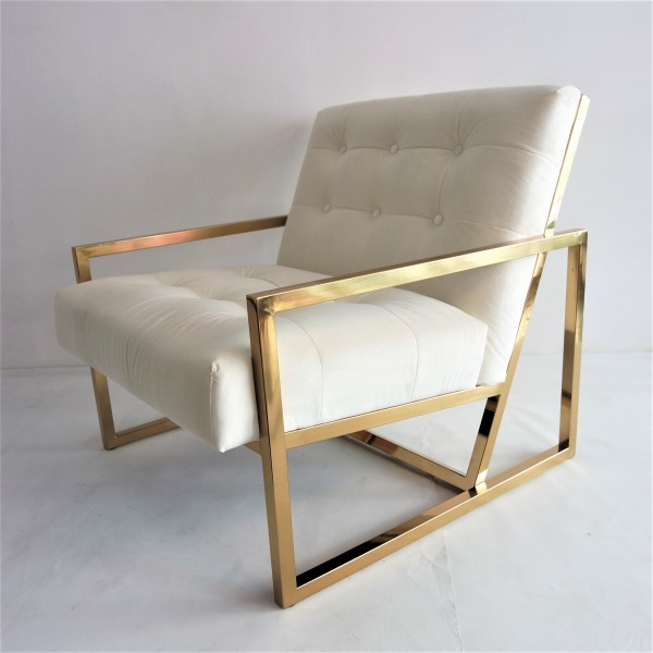 GOLD FRAME LOUNGE CHAIR- FRM71832
