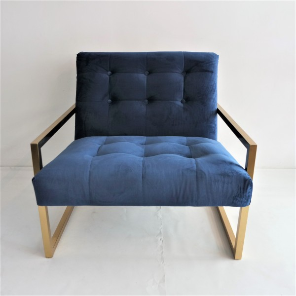 GOLD FRAME LOUNGE CHAIR- FRM71833